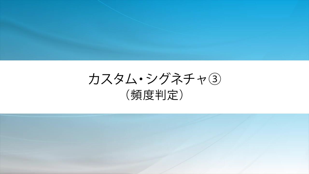 カスタム・シグネチャ③(頻度判定)